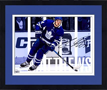 Image Unavailable. Image not available for. Color  Framed Auston Matthews  Toronto Maple Leafs Autographed ... 6f469fdcb