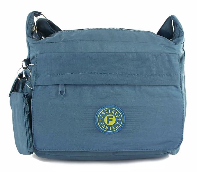377dd480a5 GFM Nylon Fabric Cross Body Bag (104K)(Style 1 - HLTL)  Amazon.co.uk   Clothing