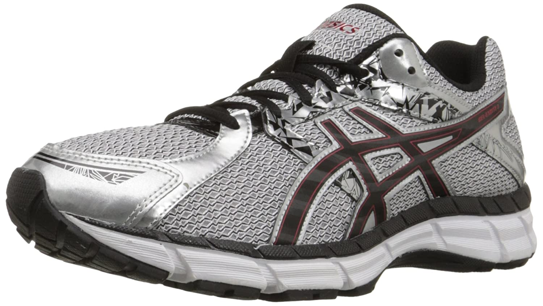 Asics Men's Gel Excite 3 Running Shoe, SilverBlackRed, 7.5