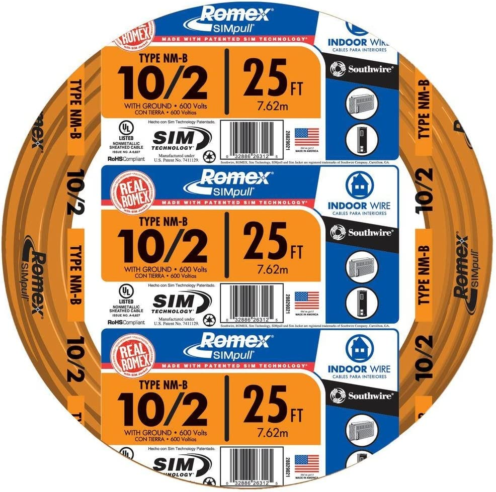 Southwire 28829021 25' 10/2 with ground Romex nd SIMpull residential on delta wiring, receptacle wiring, conduit wiring, attic wiring, lutron wiring, types of home wiring, aluminum wiring, cable wiring,