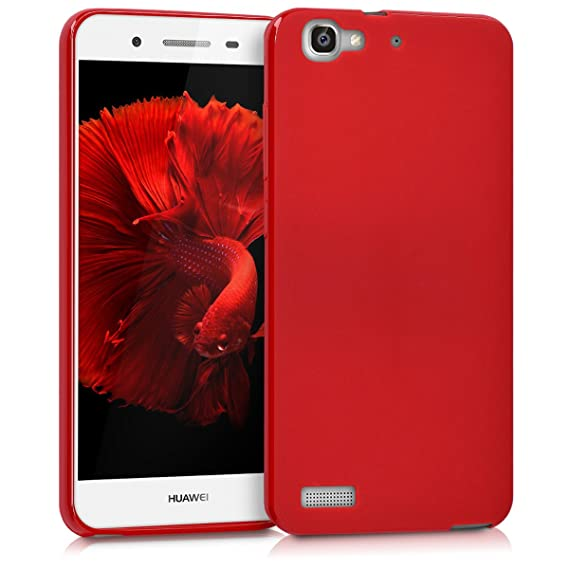 kwmobile Huawei GR3 / P8 Lite SMART Hülle - Handyhülle für Huawei GR3 / P8 Lite SMART - Handy Case in Rot matt