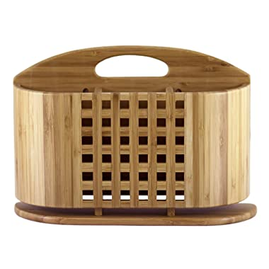 Totally Bamboo  Eco Utensil, Flatware and Cutlery Drying Caddy Eco Dish Drying Rack