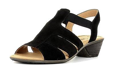 Gabor Damenschuhe 44.543.02 Damen Sandalen, Sandaletten mit verbreiterte  Auftrittsfläche Schwarz (Schwarz), UK 3  Amazon.de  Schuhe   Handtaschen 074b0d7211