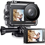 Campark X40 Action Camera 4K 20MP Dual Screen EIS Touchscreen Remote Control WiFi Waterproof 40M Vlogging Camera with 2 1350m
