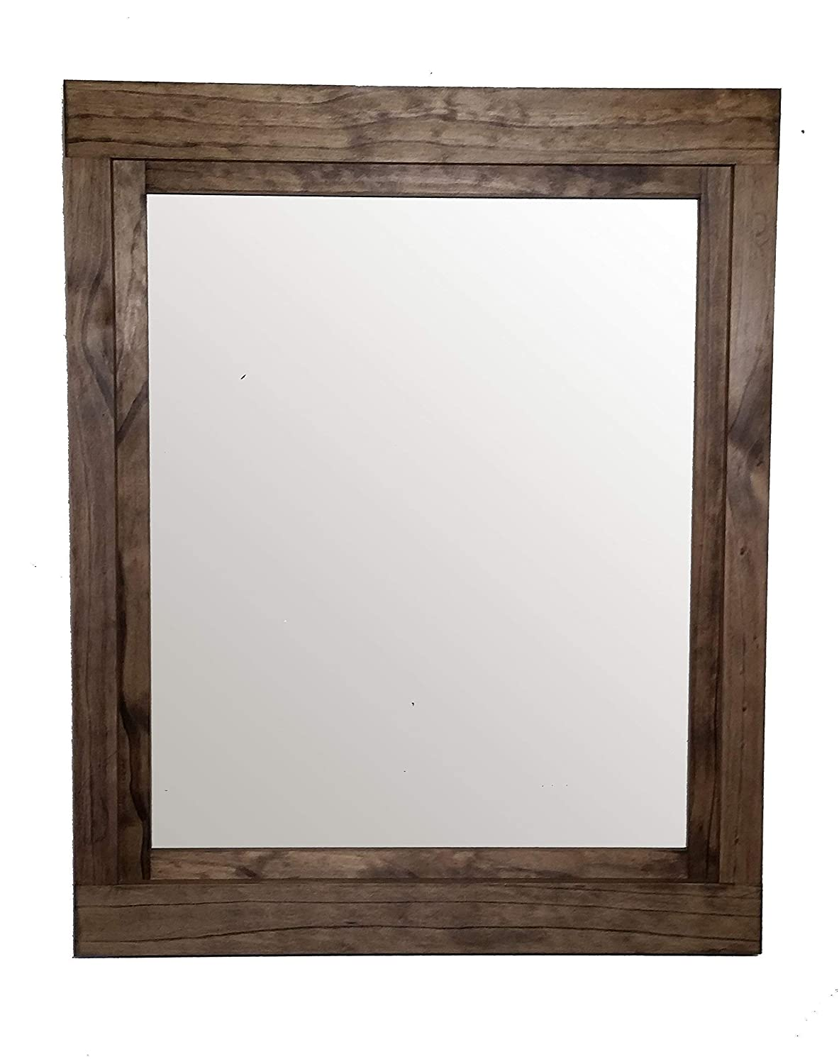Farmhouse Large Framed Mirror Available in Four Sizes and 20 Stain Colors: Shown in Provincial - Large Wall Mirror – Rustic Bathroom Decor - Wall Mirror Decorative