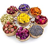 Miw Piw Natural Dried Flower- Gift Box - 9 Bags Floral Kit for Soap, Candle, Resin Jewelry Making, Bath, Nail, Decoration - R