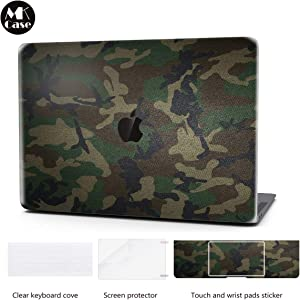 Laptop Case for MacBook Pro 13 Inch Keyboard Cover Plastic Hard Shell Touch Bar 4 in 1 Bundle with Screen Protector for Mac Pro 13 Inch (Model:A1706/A1708/A1989), Camo