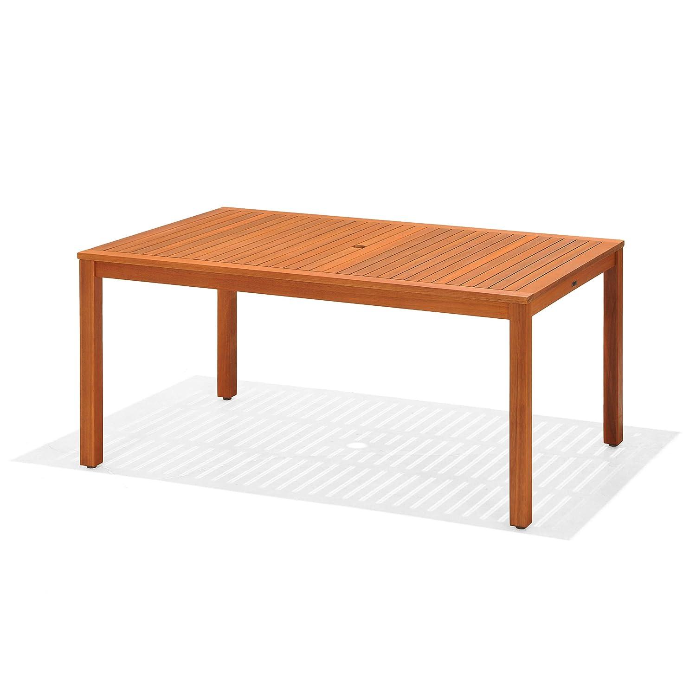 mesa de madera natural eucalipto
