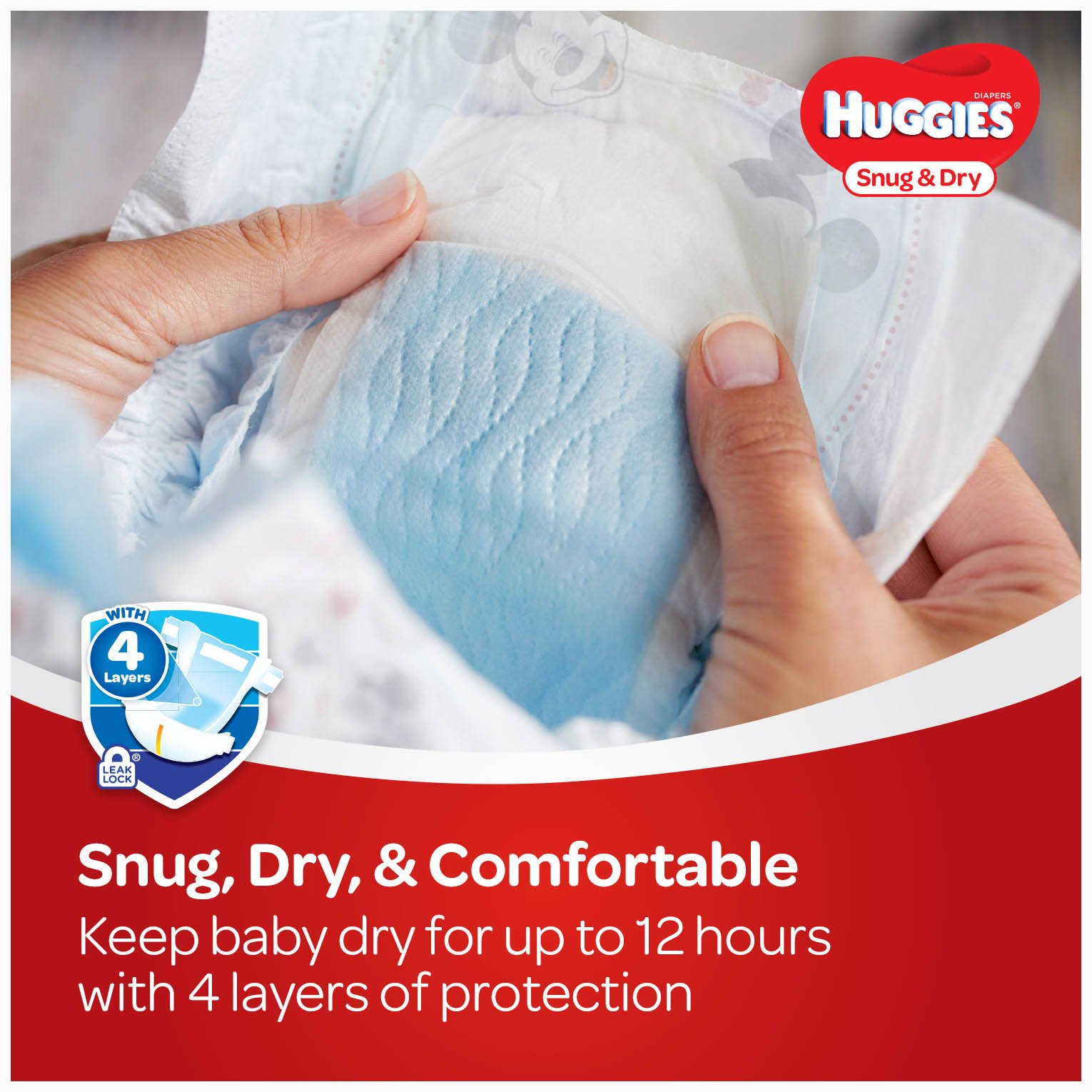 HUGGIES Snug & Dry Diapers, Size 5, 172 Count (Packaging May Vary) by Huggies (Image #4)