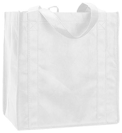 d84288201 Amazon.com  Liberty Bags LB3000 Reusable Shop Bag - White -  One ...