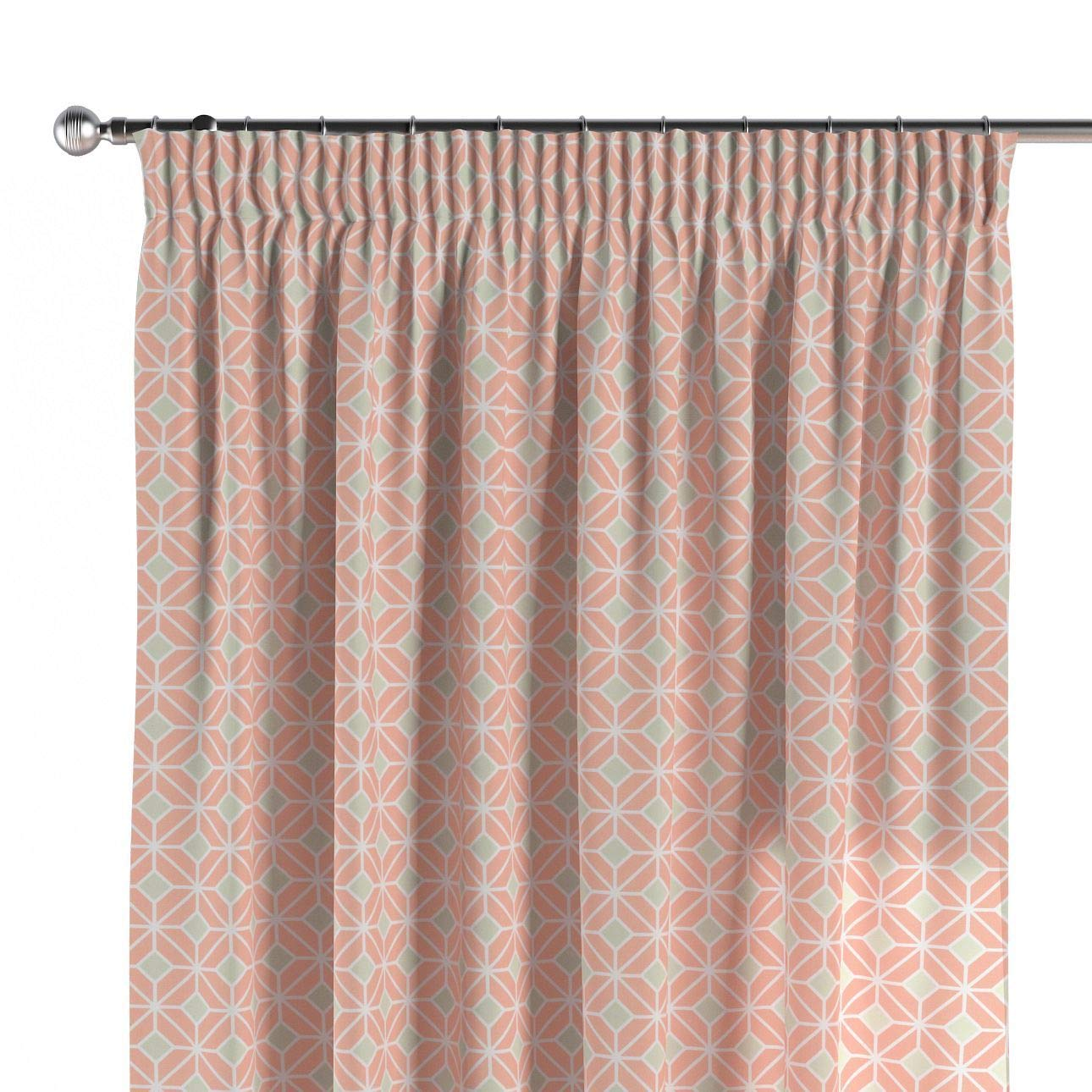 Dekoria Vorhang mit Kräuselband Dekoschal Blickdicht 1 Stck. 130 × 260 cm orange-grün Maßanfertigung möglich