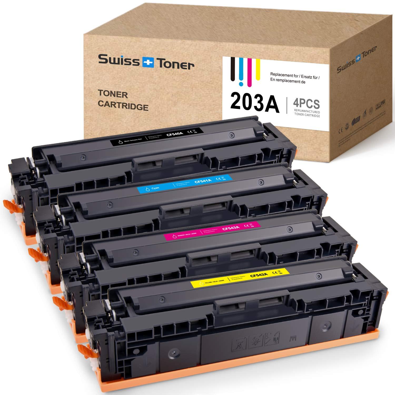 SWISS TONER CF540A Cartuchos de tóner Compatible con HP 203A 203X ...