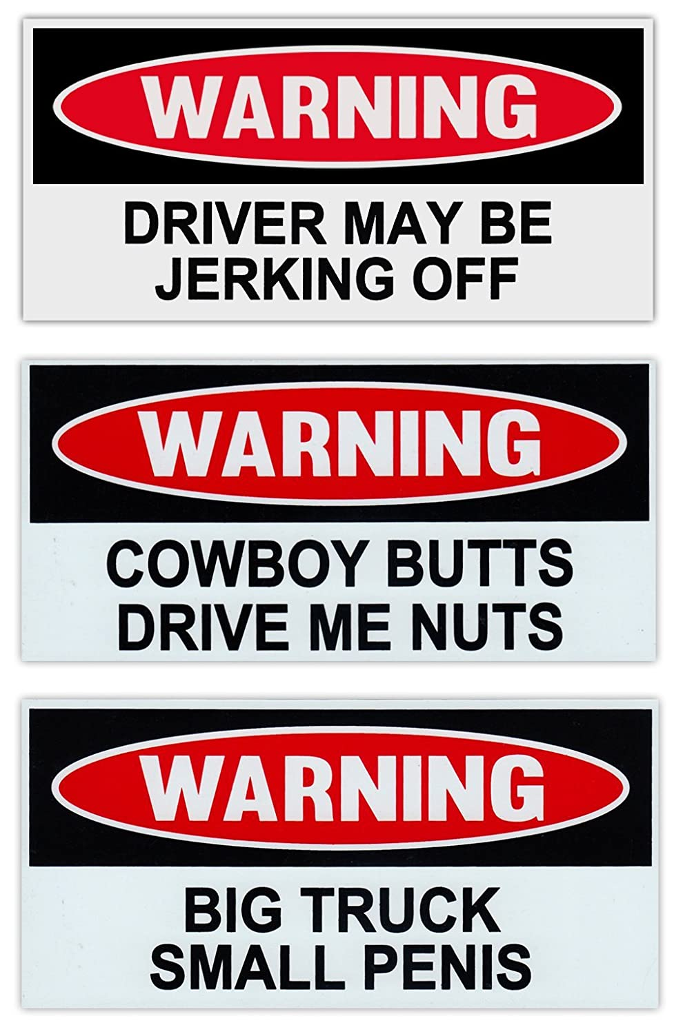 Funny Warning Magnets - Practical Joke Combo Kit - 3 Magnets - Jokes, Gags, Pranks - Slap these on your friend's car/truck and sit back and laugh!