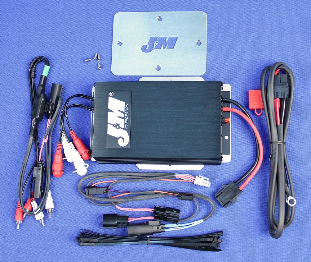 JMAA-4000HC14-SG J/&M Audio 400 Watt 4 Channel Amplifier Kit for 2014 and Newer Harley-Davidson Street Glide models