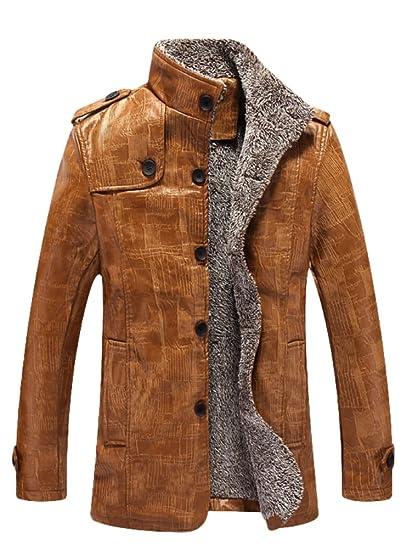 Vogstyle Uomo Nuovo Pelle Giubbotto Lungo Oversize Monopetto Cappotto  Trench  Amazon.it  Abbigliamento b6c9c6dc786