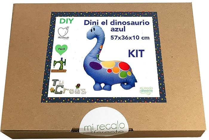 DIY KIT Almohadón dinosaurio Dini. miregalodiferente.es