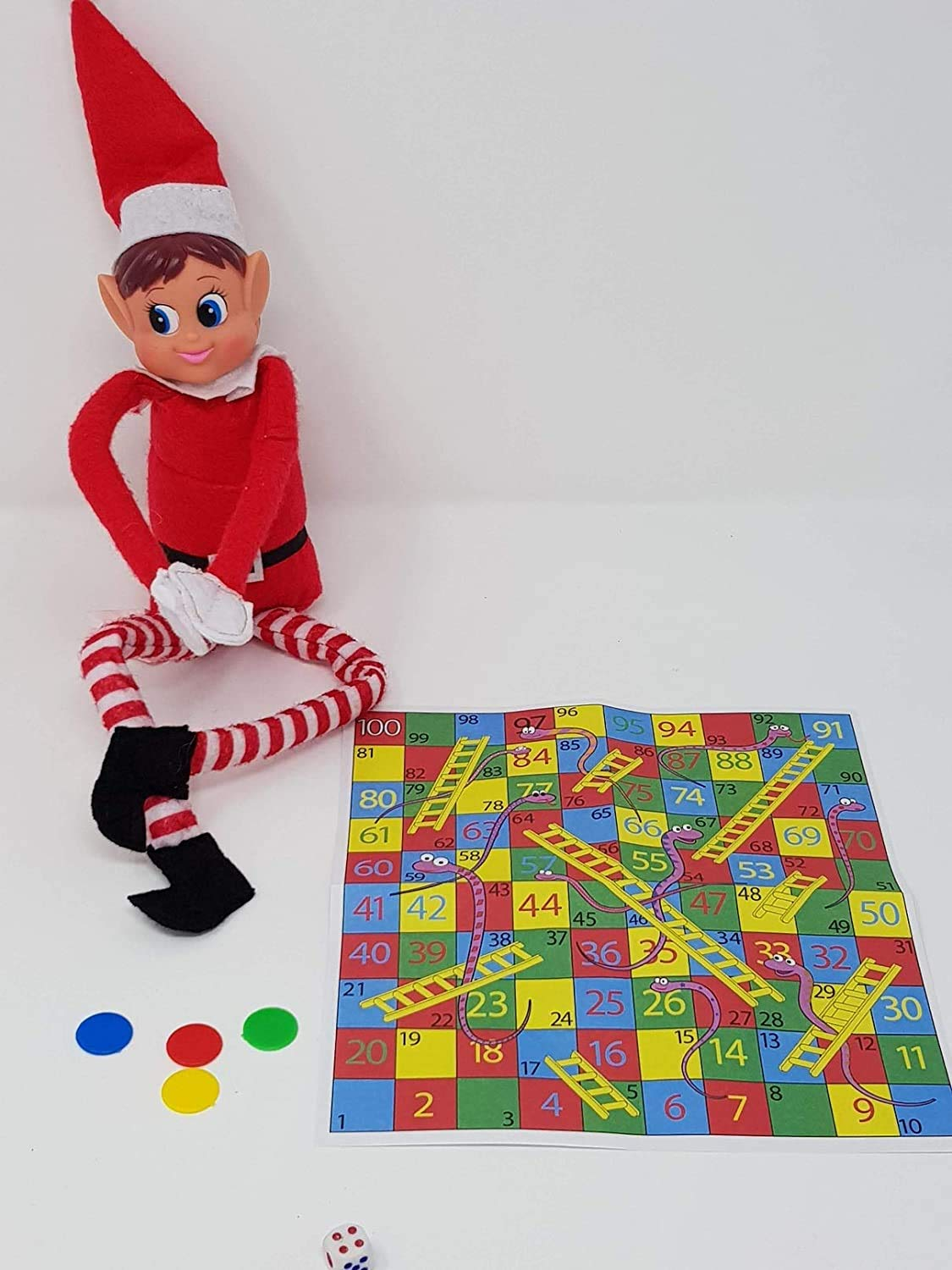 Elf GAMES Accessories - Christmas Decoration Joke Sized Snakes & Ladders