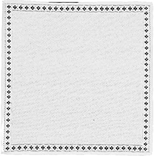 product image for Heritage Lace Canterbury Classic 17-Inch by 17-Inch Napkin, White, Set of 2