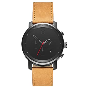 mvmt watches black face tan leather strap men s watch amazon mvmt watches black face tan leather strap men s watch