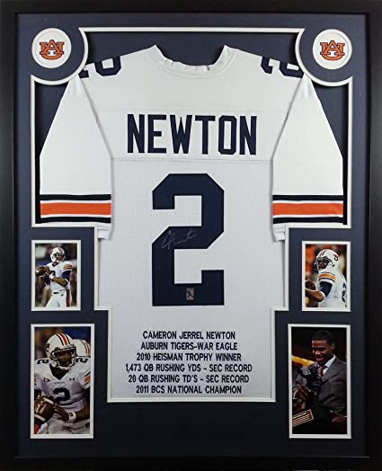 Image Unavailable. Image not available for. Color  Cam Newton Auburn Tigers  Autograph Signed Custom Framed Stat Jersey ... 26a1e7e89