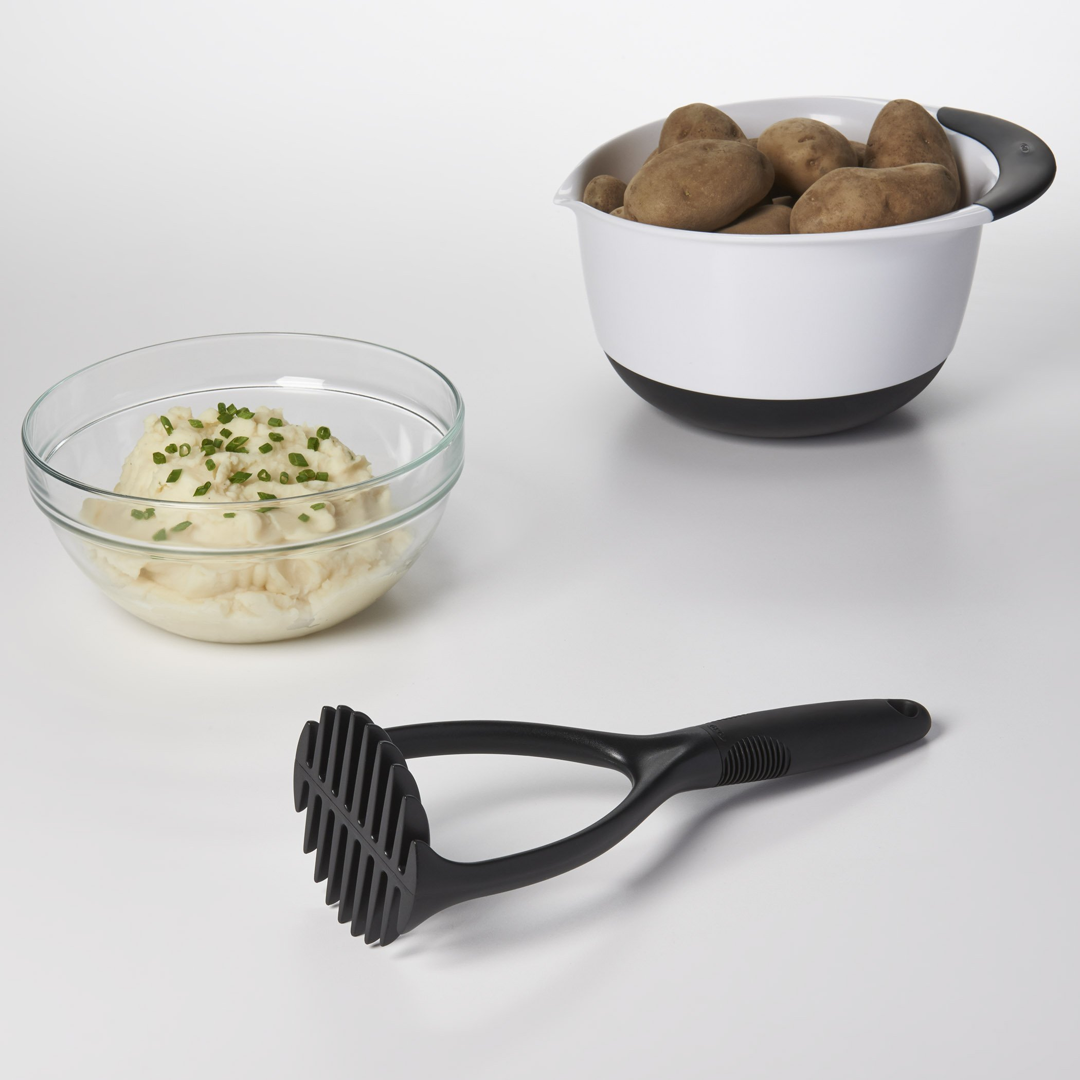 OXO Good Grips Mixing Bowl Set with Black Handles, 3-Piece by OXO (Image #10)
