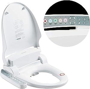 TSUGAMI Smart Bidet Toilet Seat With Warm Water, Warm Air Dryer, Gentle Feminine Wash, Heated Bidet For Toilet, White(KB2200)
