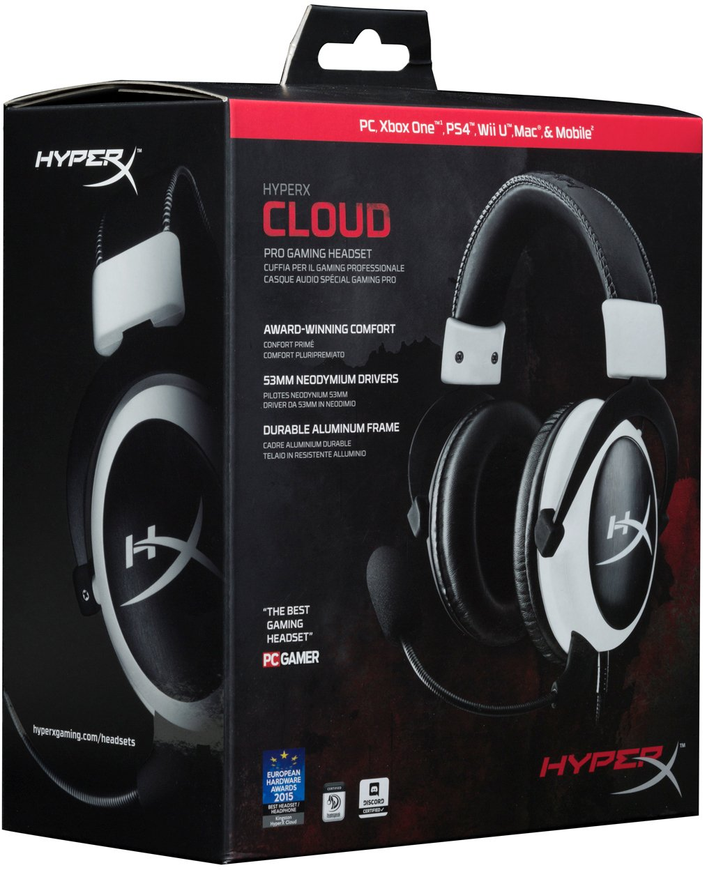 Kind of lining can you expect on the kingston hyperx cloud ii headset - Amazon Com Hyperx Cloud Gaming Headset For Pc Xbox One Ps4 Ps4 Pro Xbox One S Khx H3clw White Kingston Technology Hxs Hscc1 Official Cloud