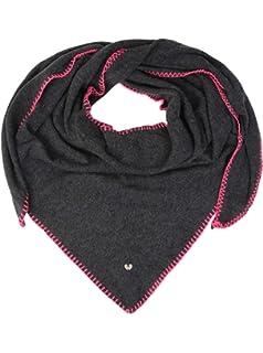 b1d034be126b7a Zwillingsherz Dreieckstuch mit Kaschmir - Hochwertiger Schal mit Heckelrand  für Damen Jungen und Mädchen - XXL