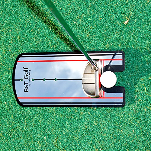 Golf Putting Alignment Mirror Training Aid - Practice Your Putting Alignment Tool by B&T Golf (Image #4)