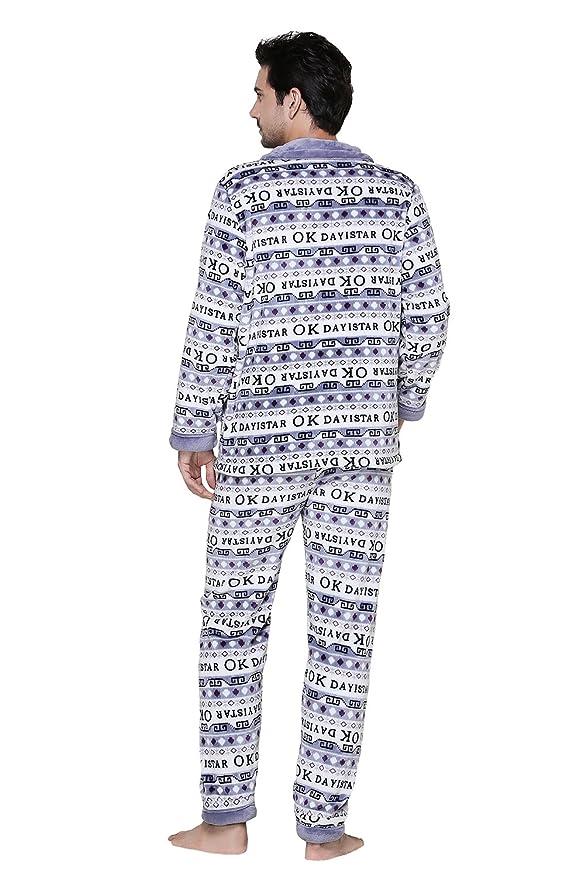 Elegante pijamas de pijamas de pijamas de manga larga de franela se puede utilizar al aire libre en pijamas de los últimos hombres: Amazon.es: Ropa y ...