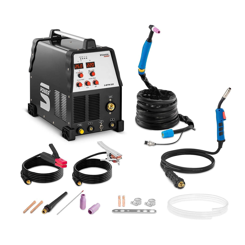 Stamos Power - S-MTM 220 - Soldadora multiproceso - TIG 220 A-MIG 220 A