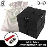 Infinity Cube Comes in GIFT BAG with 2 FREE Fidget toys, Desk Toy Relieve Stress,Anxiety,Boredom. Mechanical Activities…