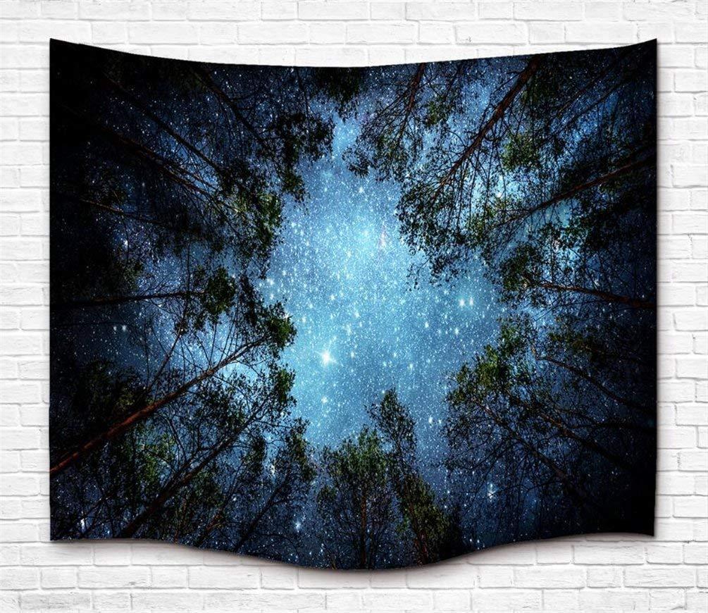 Tapiz de pared de árbol de ensueño Tapiz, Psicodélico Bosque Tapiz de pared Mandala bohemia