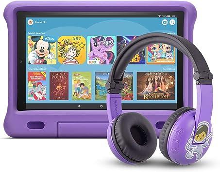 Fire Hd 10 Kids Edition Tablet 32 Gb Violette Kindgerechte Hülle Mit Playtime Bluetooth Headset Altersklasse 3 7 Jahre Amazon Devices