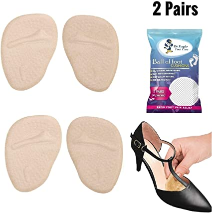 1 Pair Forefoot Cushion Metatarsal Sleeve Pads Soft Shoes Insoles Foot Protector