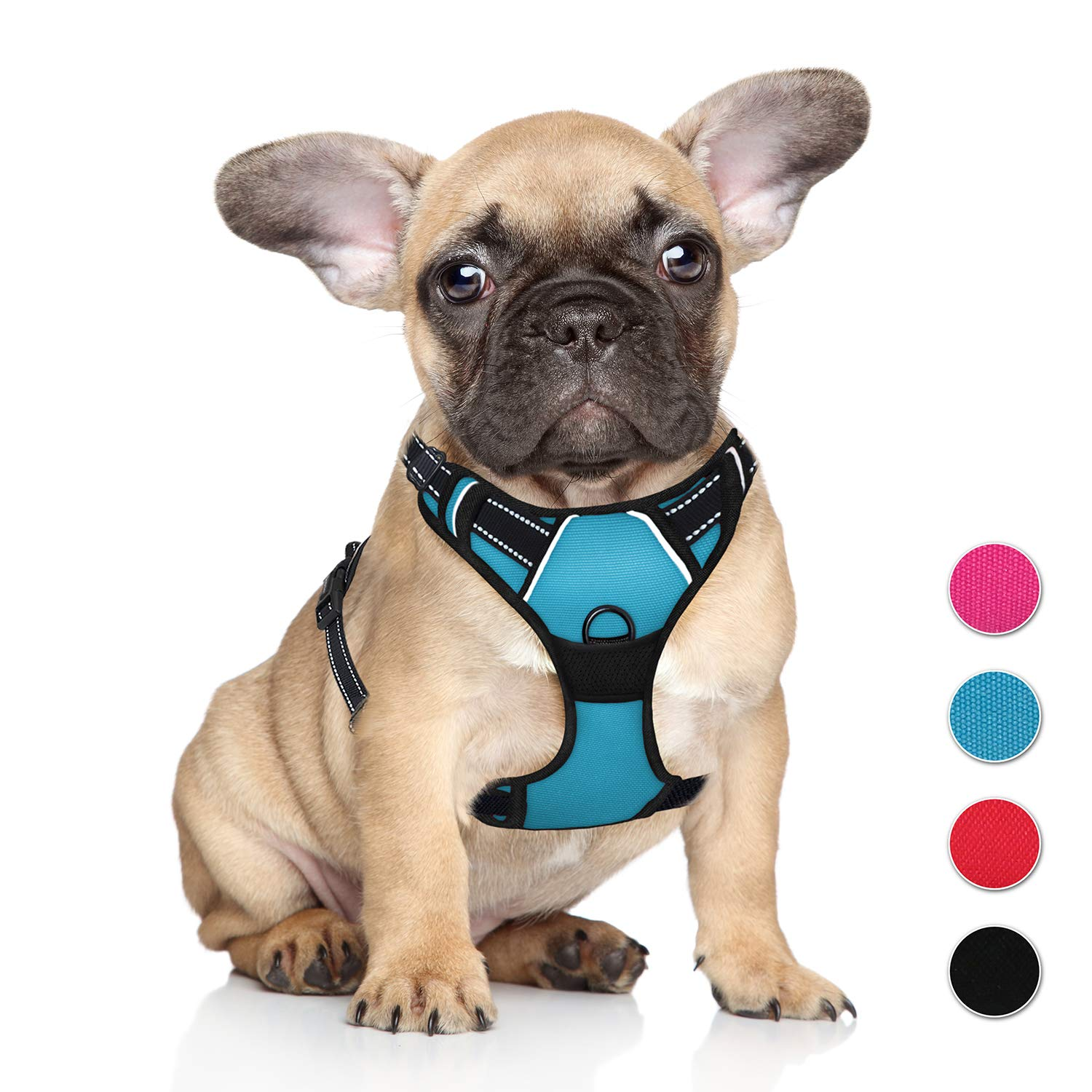 bluee S bluee S No Pull Pet Harness Dog Harness Adjustable Outdoor Pet Vest 3M Reflective Oxford Material Vest for blueE Dogs Easy Control for Small Medium Large Dogs (S)