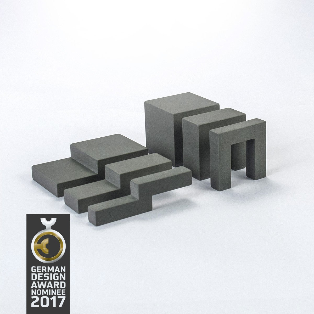 Design-Bauklötze ludobricks (betongrau) betongrau