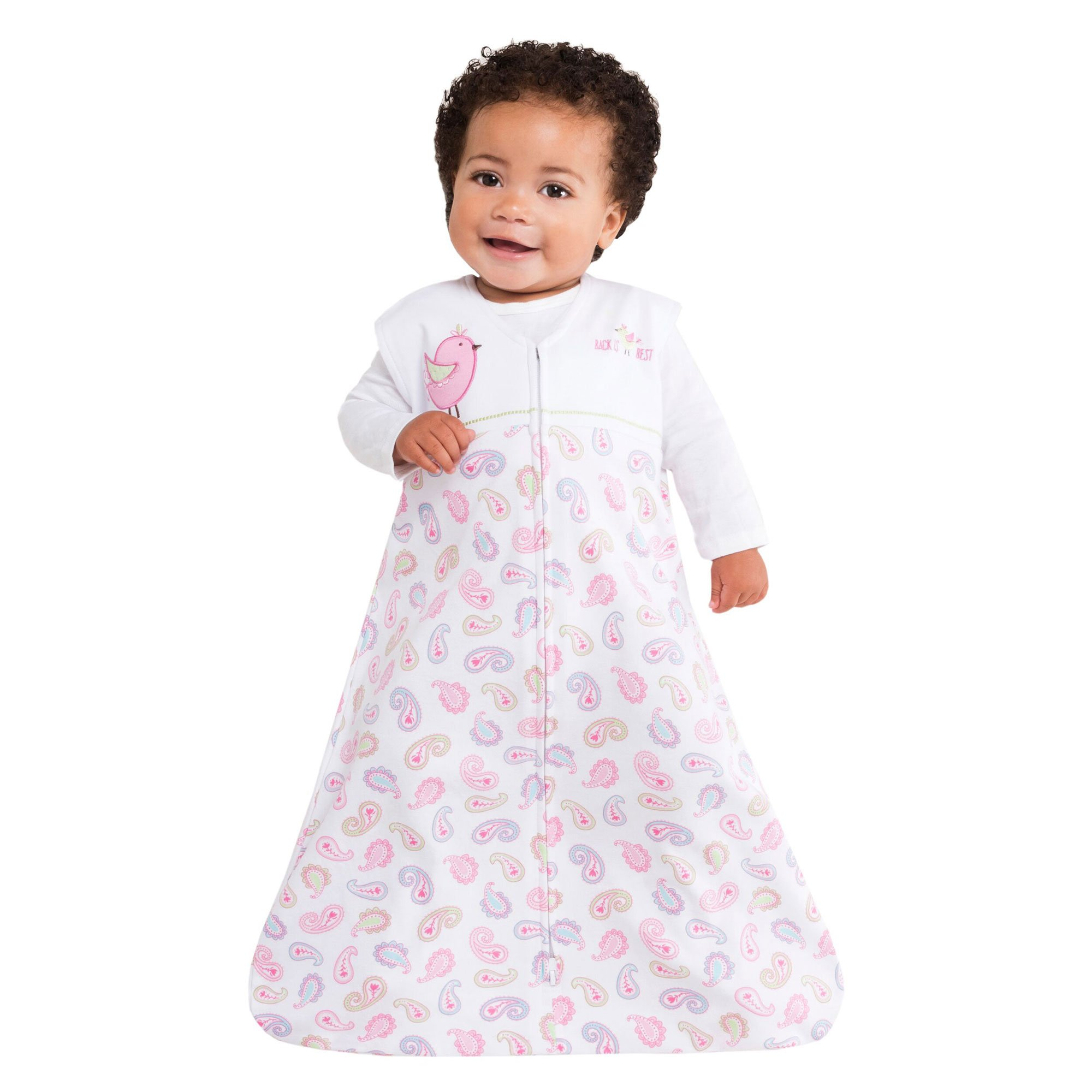 HALO Sleepsack 100% Cotton Wearable Blanket, Pink Pretty Paisley, Small by Halo (Image #2)