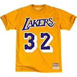 4493efe11d3 Mitchell   Ness Los Angeles Lakers Magic Johnson HWC Retro Name and Number  Tee