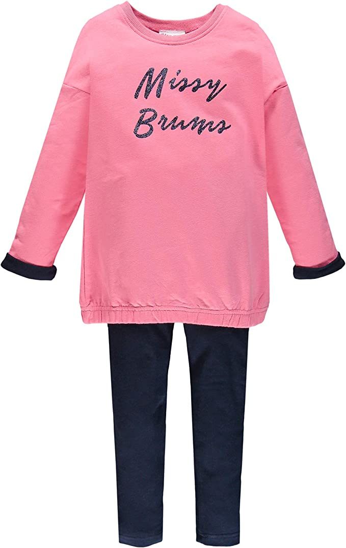 Completo Bambina Maglietta T-Shirt in Jersey e Pantagonna Brums