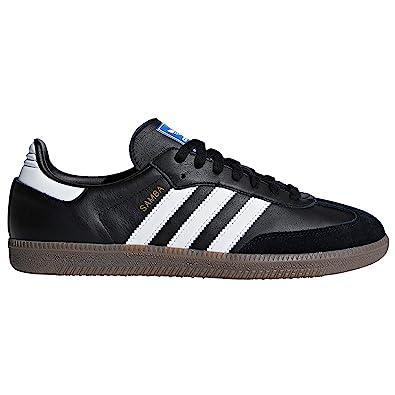 Adidas Samba Leder - schwarz/weiß, Gr. 42 2/3 EU