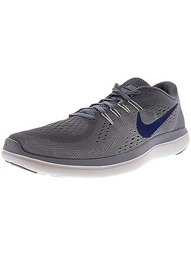 a78385be24db Nike Men s Flex RN 2017 Running Shoe Dark Sky Blue Gym Blue Glacier Grey