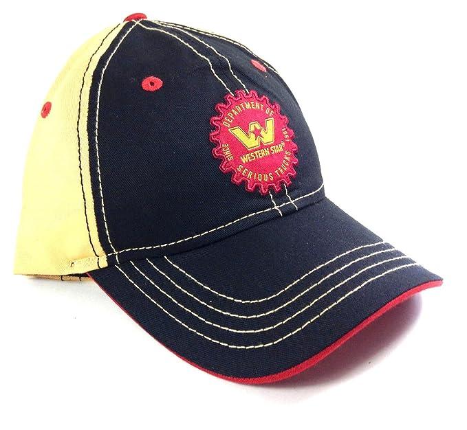 74d76b023 Black & Yellow Western Star Trucks Gear Logo Adjustable Hat