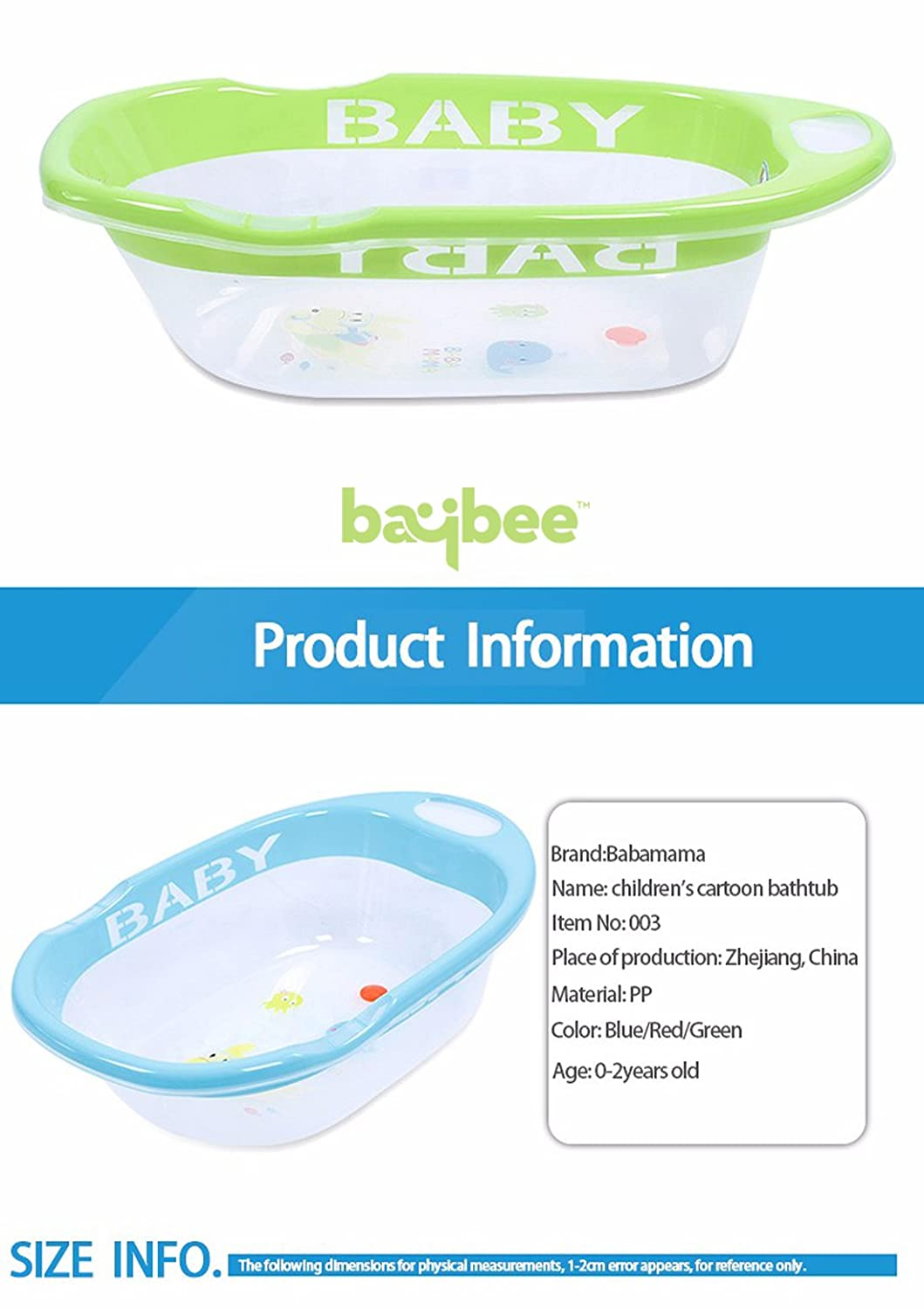 Buy Baybee Gaara Bath tub Newborn to 18 month - (Green) Online at ...