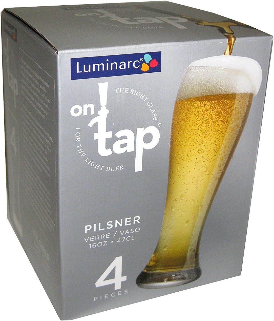 16-Ounce Luminarc on Tap 8-Piece Pilsner