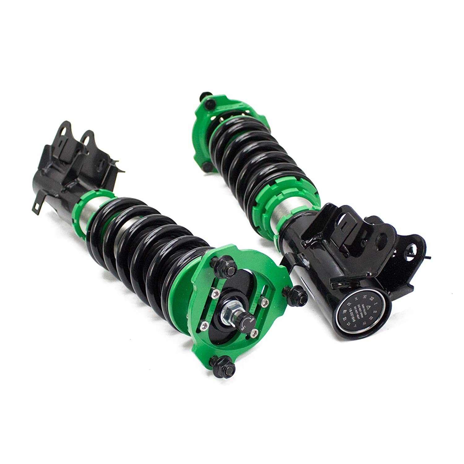 Full Length Adjustable Hyper-Street II Coilover Suspension Lowering Kit Mono-Tube Shock w// 32 Click Rebound Setting