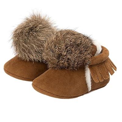 Baby Girl Boys Shoes,Dressffe Keep Warm Cotton-padded Shoes Sneaker Anti-slip Shoe Ball Tassels