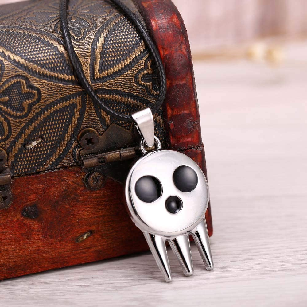 EU/_LevinArt Anime SOUL EATER Necklace Metal Sliver SOULEATER Pendant Cosplay Accessories