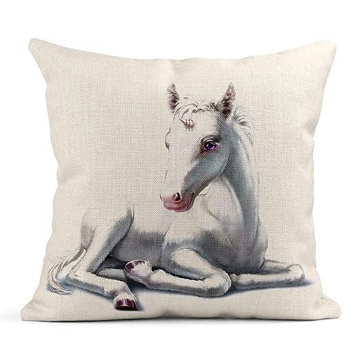 Kinhevao Almohada de Tiro Animal Unicornio Blanco Bebé ...