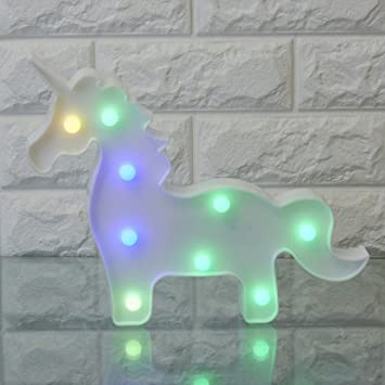 Amazon Yaeer 3D Unicorn LED Night Lamp Decorative Marquee Signs